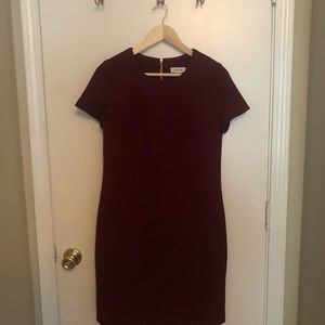 Red wine colored Calvin Klein dress